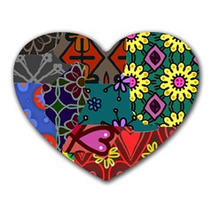 Patchwork Collage Heart Mousepads by Simbadda