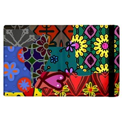 Patchwork Collage Apple iPad 3/4 Flip Case by Simbadda
