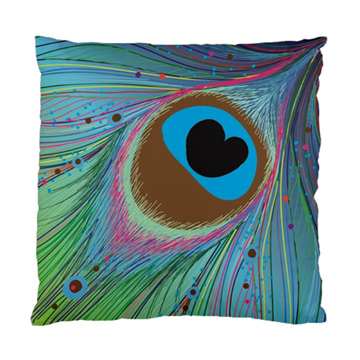 Peacock Feather Lines Background Standard Cushion Case (Two Sides)