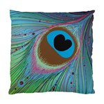 Peacock Feather Lines Background Standard Cushion Case (Two Sides) Back