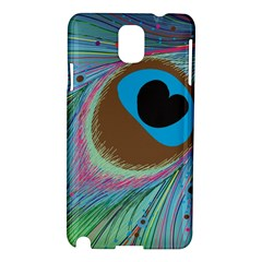 Peacock Feather Lines Background Samsung Galaxy Note 3 N9005 Hardshell Case by Simbadda