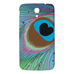 Peacock Feather Lines Background Samsung Galaxy Mega I9200 Hardshell Back Case