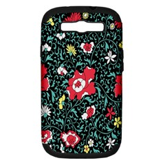 Vintage Floral Wallpaper Background Samsung Galaxy S Iii Hardshell Case (pc+silicone)