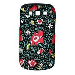 Vintage Floral Wallpaper Background Samsung Galaxy S Iii Classic Hardshell Case (pc+silicone)