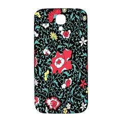 Vintage Floral Wallpaper Background Samsung Galaxy S4 I9500/i9505  Hardshell Back Case