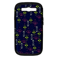 Vintage Unique Pattern Samsung Galaxy S Iii Hardshell Case (pc+silicone) by Simbadda