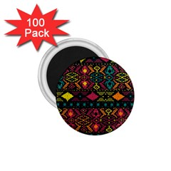 Traditional Art Ethnic Pattern 1 75  Magnets (100 Pack)  by Simbadda