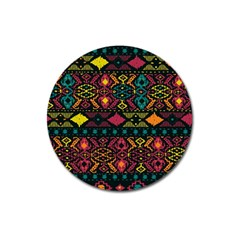 Traditional Art Ethnic Pattern Magnet 3  (round) by Simbadda