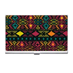 Traditional Art Ethnic Pattern Business Card Holders by Simbadda