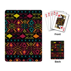 Traditional Art Ethnic Pattern Playing Card by Simbadda
