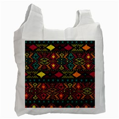 Traditional Art Ethnic Pattern Recycle Bag (two Side)  by Simbadda