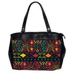 Traditional Art Ethnic Pattern Office Handbags (2 Sides)  by Simbadda