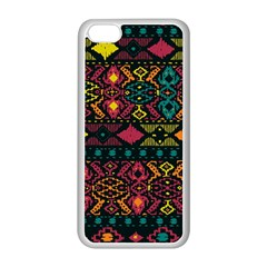 Traditional Art Ethnic Pattern Apple Iphone 5c Seamless Case (white) by Simbadda