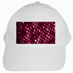 Red Circular Pattern Background White Cap by Simbadda