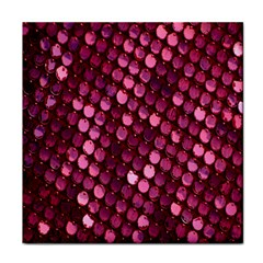 Red Circular Pattern Background Tile Coasters