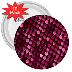 Red Circular Pattern Background 3  Buttons (10 Pack)  by Simbadda