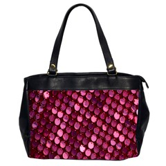 Red Circular Pattern Background Office Handbags (2 Sides)  by Simbadda