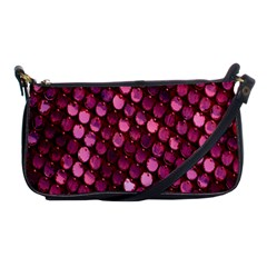 Red Circular Pattern Background Shoulder Clutch Bags by Simbadda