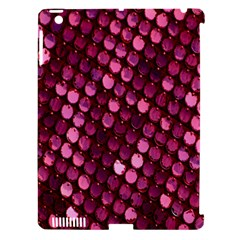 Red Circular Pattern Background Apple Ipad 3/4 Hardshell Case (compatible With Smart Cover) by Simbadda