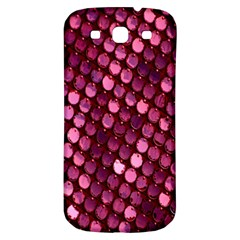 Red Circular Pattern Background Samsung Galaxy S3 S Iii Classic Hardshell Back Case by Simbadda