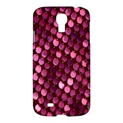 Red Circular Pattern Background Samsung Galaxy S4 I9500/i9505 Hardshell Case by Simbadda