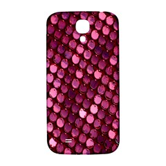 Red Circular Pattern Background Samsung Galaxy S4 I9500/i9505  Hardshell Back Case by Simbadda