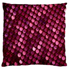 Red Circular Pattern Background Large Flano Cushion Case (one Side) by Simbadda