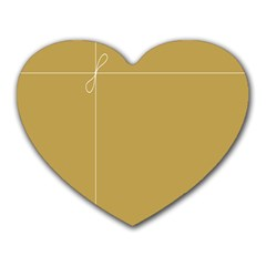 Brown Paper Packages Heart Mousepads by Alisyart