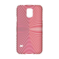 Circle Line Red Pink White Wave Samsung Galaxy S5 Hardshell Case  by Alisyart