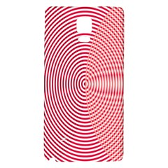 Circle Line Red Pink White Wave Galaxy Note 4 Back Case by Alisyart