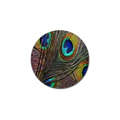 Peacock Feathers Golf Ball Marker (10 pack) by Simbadda