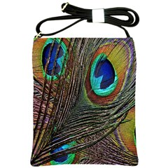 Peacock Feathers Shoulder Sling Bags by Simbadda