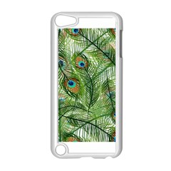 Peacock Feathers Pattern Apple Ipod Touch 5 Case (white) by Simbadda