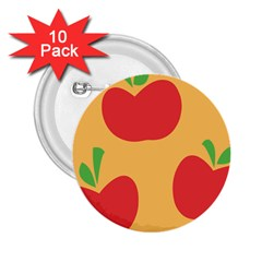 Apple Fruit Red Orange 2 25  Buttons (10 Pack)  by Alisyart
