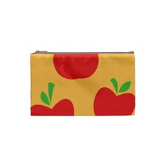 Apple Fruit Red Orange Cosmetic Bag (small)  by Alisyart
