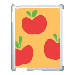 Apple Fruit Red Orange Apple Ipad 3/4 Case (white) by Alisyart