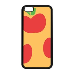 Apple Fruit Red Orange Apple Iphone 5c Seamless Case (black) by Alisyart