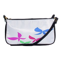 Colorful Butterfly Blue Red Pink Brown Fly Leaf Animals Shoulder Clutch Bags by Alisyart