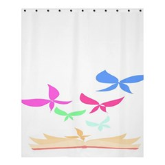 Colorful Butterfly Blue Red Pink Brown Fly Leaf Animals Shower Curtain 60  X 72  (medium)