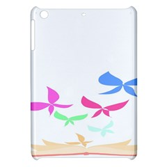 Colorful Butterfly Blue Red Pink Brown Fly Leaf Animals Apple Ipad Mini Hardshell Case by Alisyart