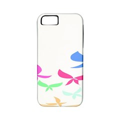 Colorful Butterfly Blue Red Pink Brown Fly Leaf Animals Apple Iphone 5 Classic Hardshell Case (pc+silicone)