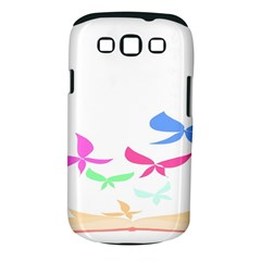 Colorful Butterfly Blue Red Pink Brown Fly Leaf Animals Samsung Galaxy S Iii Classic Hardshell Case (pc+silicone)