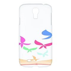 Colorful Butterfly Blue Red Pink Brown Fly Leaf Animals Samsung Galaxy S4 I9500/i9505 Hardshell Case
