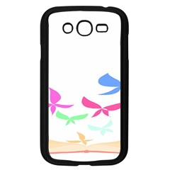 Colorful Butterfly Blue Red Pink Brown Fly Leaf Animals Samsung Galaxy Grand Duos I9082 Case (black)