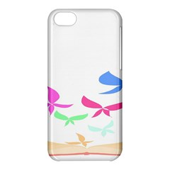 Colorful Butterfly Blue Red Pink Brown Fly Leaf Animals Apple Iphone 5c Hardshell Case by Alisyart