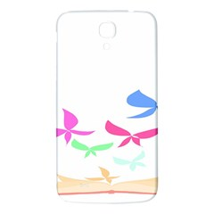 Colorful Butterfly Blue Red Pink Brown Fly Leaf Animals Samsung Galaxy Mega I9200 Hardshell Back Case by Alisyart