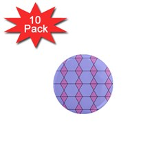 Demiregular Purple Line Triangle 1  Mini Magnet (10 Pack)  by Alisyart