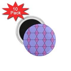 Demiregular Purple Line Triangle 1 75  Magnets (10 Pack)  by Alisyart