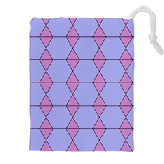 Demiregular Purple Line Triangle Drawstring Pouches (xxl)