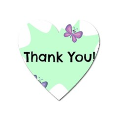 Colorful Butterfly Thank You Animals Fly White Green Heart Magnet by Alisyart